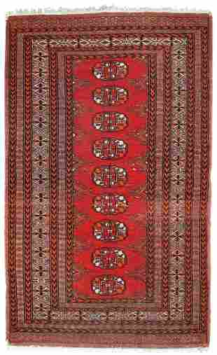 Handmade vintage Pakistani Lahore rug 2.6' x 4.2' (80cm