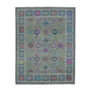 Colorful Fusion Kazak Pure Wool Hand-Knotted Oriental