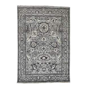 Hand-Knotted Heriz with Natural Colors Oriental Rug