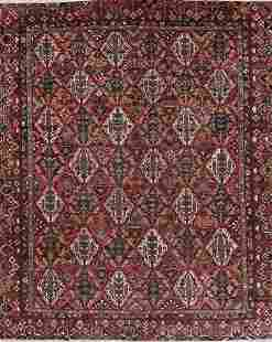 Antique Vegetable Dye Bakhtiari Persian Hand-Knotted