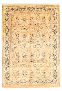 """Hand-knotted Pako Persian 18/20 Beige Wool Rug 6'2"""" x"""