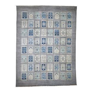 Vintage Look Kazak Garden Design Hand-Knotted Pure Wool
