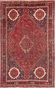 Antique Tribal Red Lori Persian Area Rug 6x9