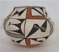 Acoma Pueblo coiled pottery jar ca 1940's