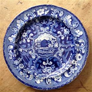 Early 19thc beehive soft paste plate