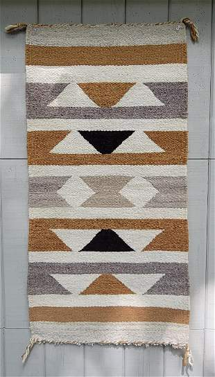 Navajo woven gallup throw ca 1940's or 50's