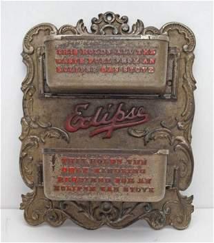 Advertising Eclipse Stove Cast iron Match Safe