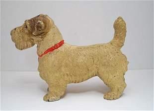 Oversize Sealyham Dog Cast Iron Hubley Doorstop