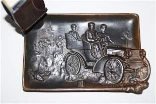 Antique Car Metal Ash Tray Match Safe