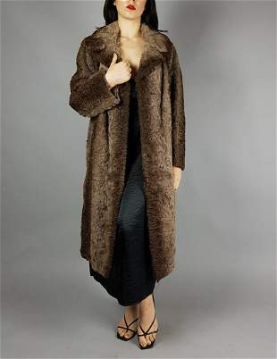 BROWN BROADTAIL FUR COAT