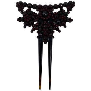 Victorian Garnet Hair Ornament