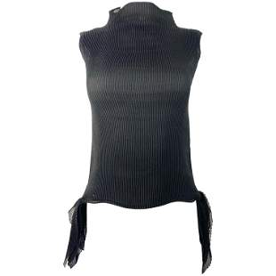 Issey Miyake Black Sleeveless Top Size 2