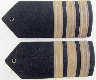 US WWII MILITARY OFFICER UNIFORM SHOULDER BOARDS