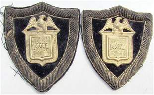 KNIGHTS OF GOLDEN EAGLE FRATERNAL PAIR OF ANTIQUE