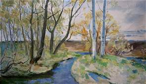 Oil painting Forest landscape Minka Alexander