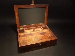 Folding Document Writing Slope Wood Lap Desk Slate Box