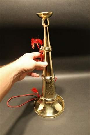 Heavy Brass Fireman Presentation Horn Speaking Trumpet