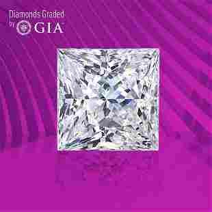1.01 ct, Color F/VVS2, Princess cut GIA Graded Diamond