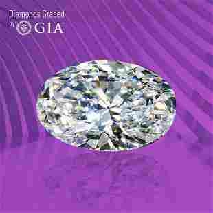 1.01 ct, Color D/VS2, Oval cut GIA Graded Diamond