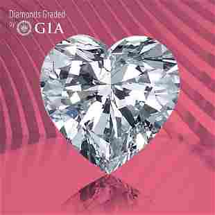 1.00 ct, Color D/IF, TYPE IIa Heart cut GIA Graded