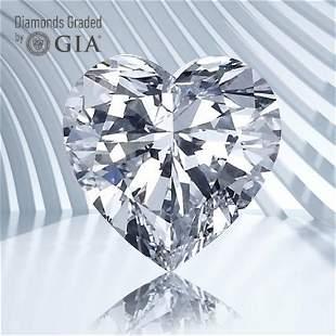 1.50 ct, Color D/VS2, Heart cut GIA Graded Diamond