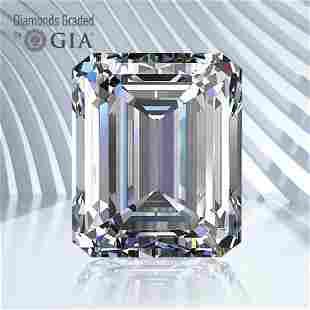 0.77 ct, Color D/VS1, Emerald cut GIA Graded Diamond