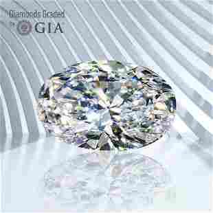 1.01 ct, Color F/VS2, Oval cut GIA Graded Diamond