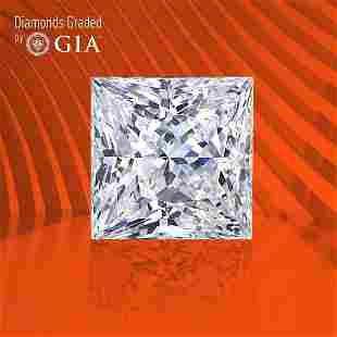 1.00 ct, Color E/VVS2, Princess cut GIA Graded Diamond