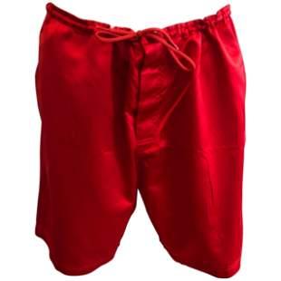 """Miu Miu Red Silk """"Boxing"""" Shorts (42 Itl) W/Tag"""