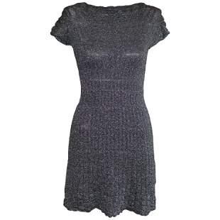 M Missoni Silver Grey Metallic Dress 40 (ITL)