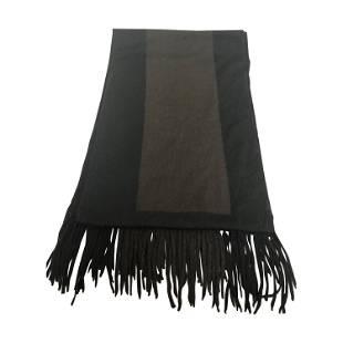 Hermes Vintage Cashmere/Wool Scarf w/Fringe-Unisex