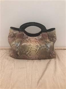 Nancy Gonzalez Python and Porosus Crocodile Bag As New