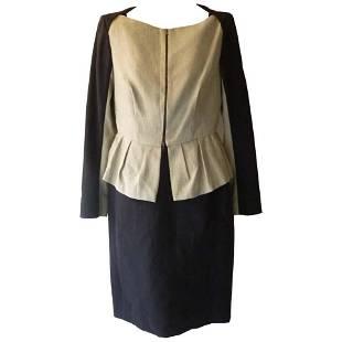 Lida Baday Sleeveless Dress with Peplum Jacket 12