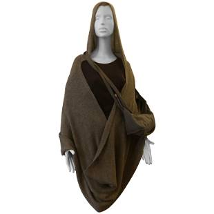 Ann Demeulemeester Apalca Hooded Wrap/Shawl w/Matching