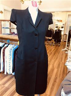 Givenchy 2011P Collection Black Cotton Shirt Dress 42