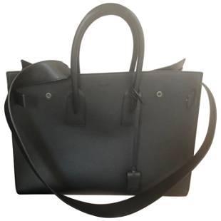 2016 Large Saint Laurent SDJ in Black Grained Leather