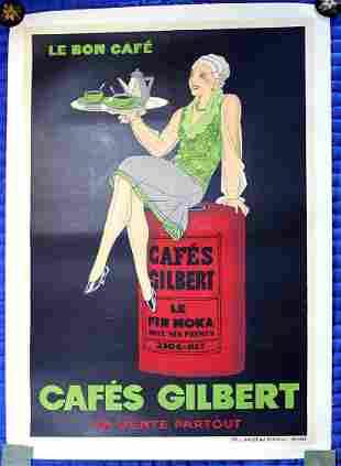 "J. Saignier ""Cafes Gilbert"" Le Bon Cafe (France, 1925)"