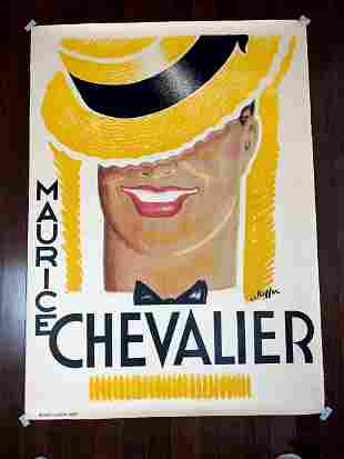 Maurice Chevalier - Art by Charles Kiffer (1937)