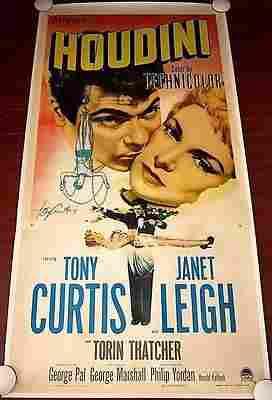 Houdini - Tony Curtis (1953) US 3SH Movie Poster LB