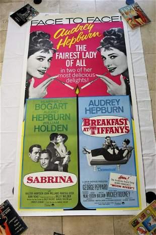 Sabrina/Breakfast at Tiffany's (USA, 1965) Three Sheet