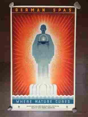 "German Spas - Art by Jupp Wiertz (1936) 24.75"" x"