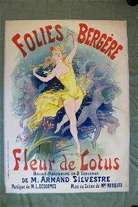 """Folies Bergere - Art by Cheret (1893) 34.75"""" x 49"""""""