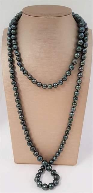 8x12 Shimmering Peacock green Tahitian pearls -