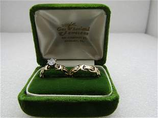 Vintage .50 CTW Diamond Engagement Ring & Wedding Band