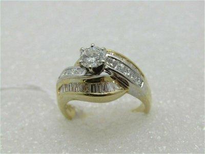 14kt Diamond Engagement Ring, Main .50 ctw, TCW 1.52,