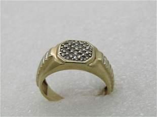 Vintage 10KT Men's Diamond Ring, 1950's-1960's, Sz.