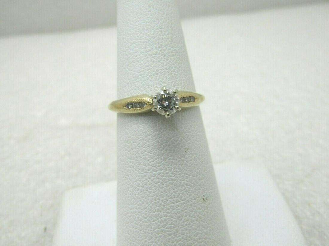 Vintage 14kt Diamond Engagement Ring, Sz. 7.25, 2.45