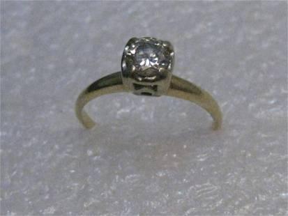 Vintage 14kt Gold Diamond Engagement Ring, over .40