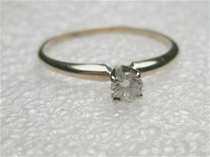 Vintage 14kt Yellow Gold .20 ctw Diamond Engagement