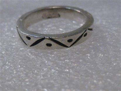 Sterling Silver Southwestern Ring or Wedding Band,
